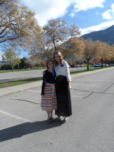 Emma and McKenna Lawrence (lifetime friends). Sister Lawrence is going to Argentina!